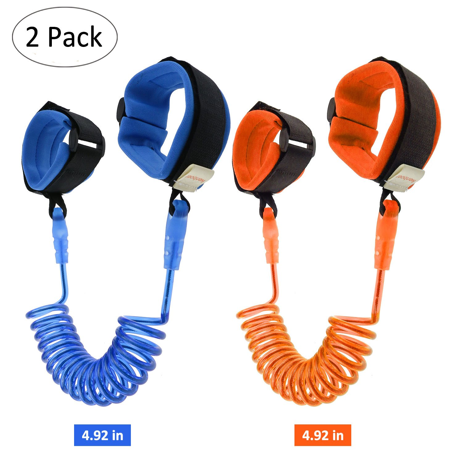 (2 Pack) Anti Lost Wrist Belt, Yokunat 1.5M/4.92ft Baby Toddler Reins Safety Leash Wristband Child Safety Wrist Link Leash Harness Flexible Traveling Shopping Exploring Helper