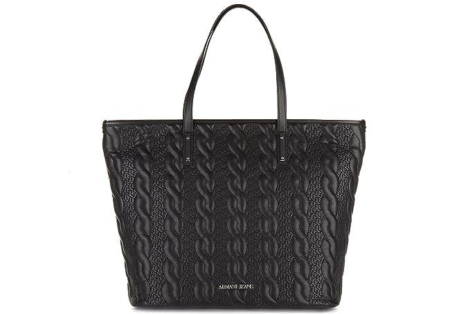 7880c83b7f Armani Jeans borsa donna a spalla shopping nuova originale nero: Amazon.it:  Abbigliamento
