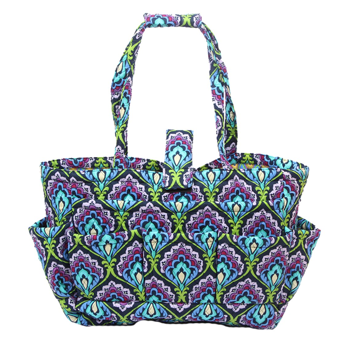 FLloral Quilted Cotton Needle Bag Knitting Bag Yarn