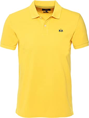 La Martina Hombres Slim Fit Rick Polo Camisa Amarillo XXXL: Amazon ...