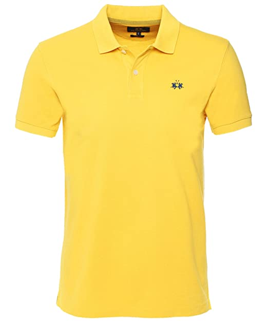 La Martina Hombres Slim Fit Rick Polo Camisa Amarillo XXXL: Amazon ...