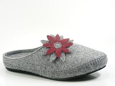 Rohde 6110-80 Salla Schuhe Damen Hausschuhe Pantoffeln Filz,  Schuhgröße 39 Farbe af368a9d60