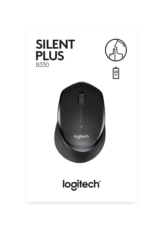 Logitech B330 Silent Mouse Wireless Black 910 004913 M331 Plus Computers Accessories