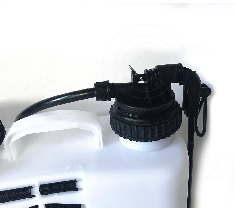 ASC 16L WHITE KNAPSACK BACKPACK Pressure Sprayer Water / Weedkiller / Fertiliser