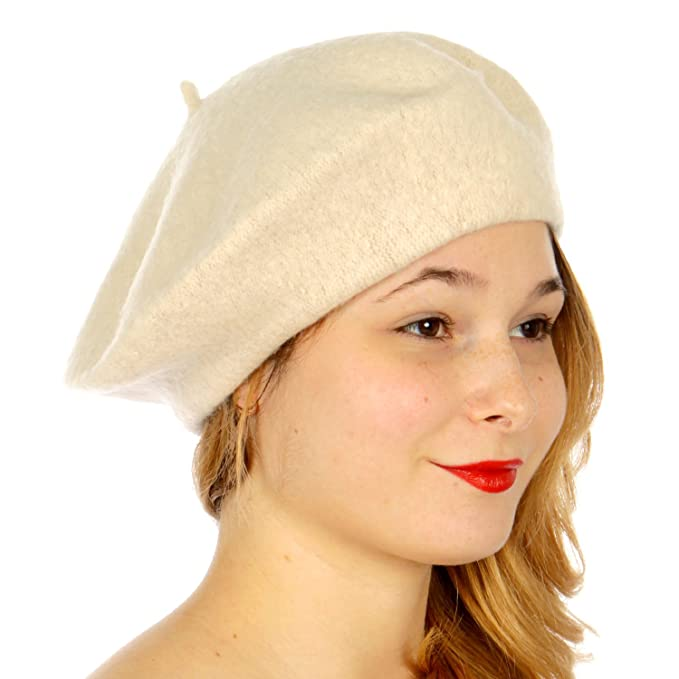 1950s Women's Hat Styles & History NYFASHION101 French Style Lightweight Casual Classic Solid Color Wool Beret $9.99 AT vintagedancer.com