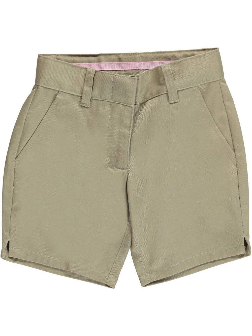 Universal Little Girls' Flat Front Shorts - Khaki, 5