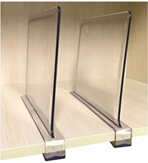 Cq Acrylic 4 Piece Multifunction Acrylic Shelf Dividers, Closets Shelf And  Closet Separator For Wood