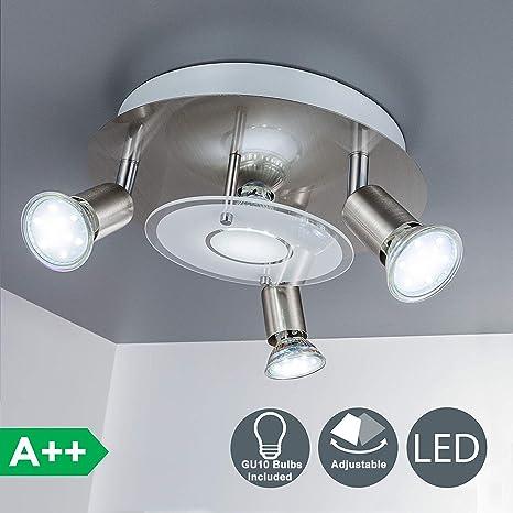 Modern Ceiling Lights Black Fixture 6 Head Led Bulb Light Industrial Metal Art Lighting for Dining Room Kitchen Room Bed Room Flush Mount Ceiling Light Upgraded