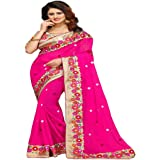 Bollywood Craze Latest Designer Embroidery Saree New Arrival Collection 2018 For Special Women Party Wear With Blouse Piece