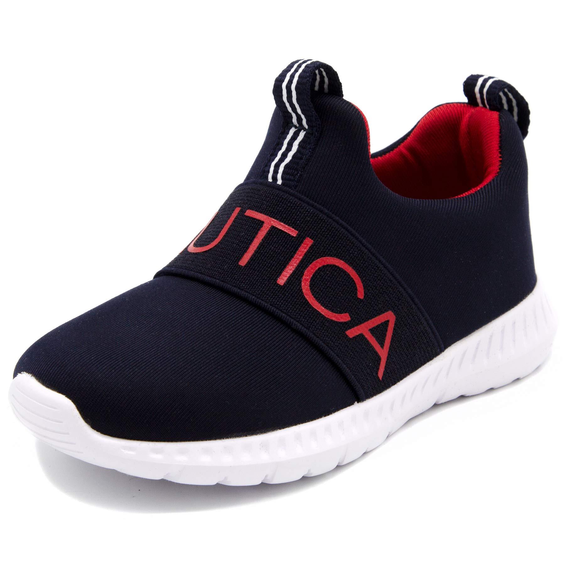 Nautica Kids Boys Fashion Sneaker Athletic Running Shoe-Mattoon-Navy/Red-12
