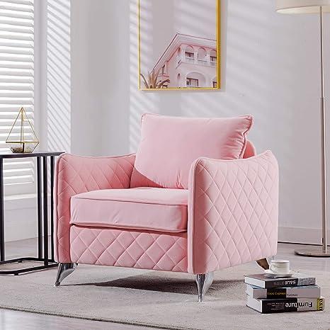 Amazon.com: Altrobene Modern Luxury Velvet Accent Chair ...