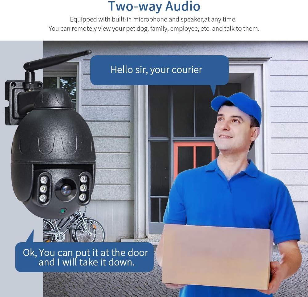 INQMEGA Outdoor PTZ Camera,1080P WiFi Pan Tilt 4.1X Surveillance Security IP Weatherproof Camera with 2 Way Audio Night Vision,Motion Detection,for Backyard//Office//Shop//School//Hospital