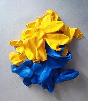 100 Blau Gelb Herz Luft Ballon S Hochzeit Herzballons
