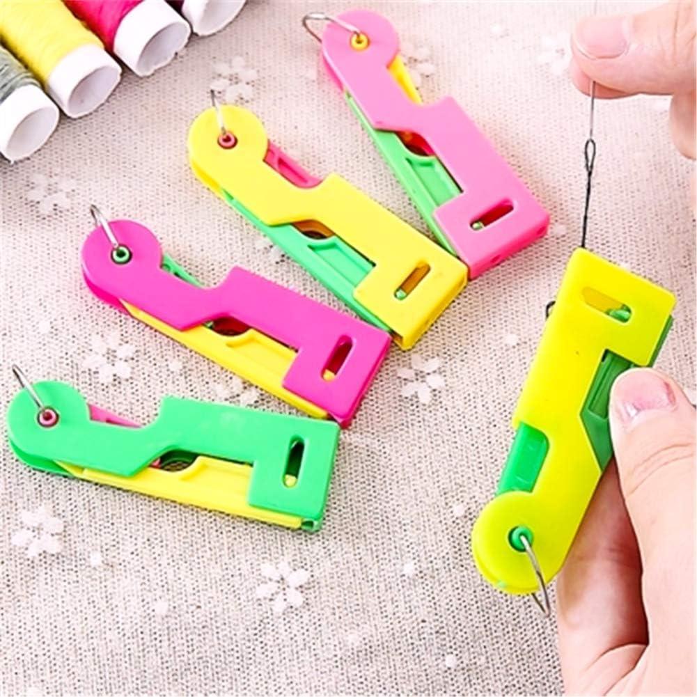 Automatic Needle Threading Device,Self Threading Hand Needles,Elderly Easy to Use Self Threading Hand Needles-Random Color 2 PCS