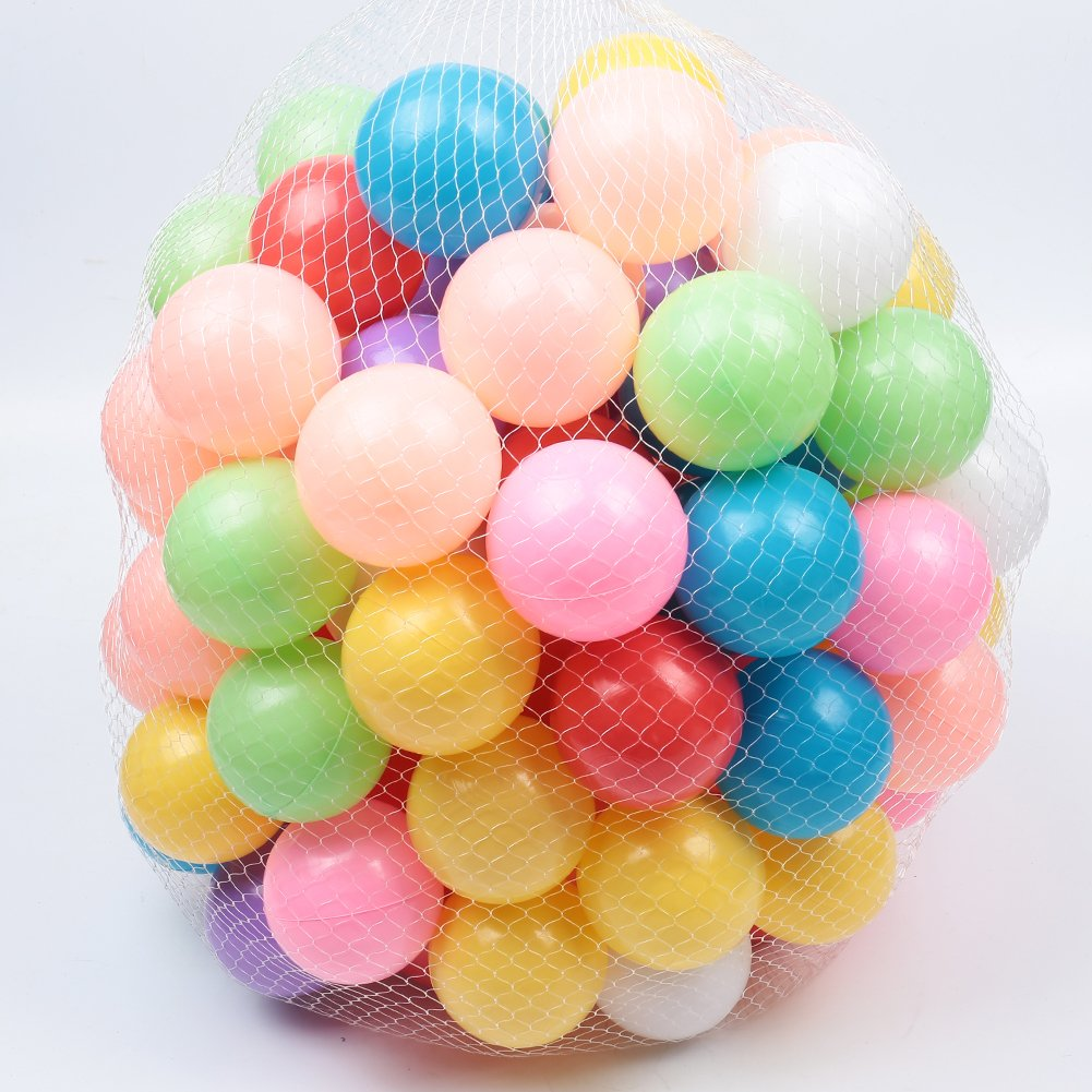 Real Relax 500pcs 5.5cm Colorful Ball Soft Plastic Ocean Ball for Baby Kid
