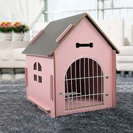 YQQ Alojamiento De Mascotas Casa De Mascotas Al Aire Libre Villa De Perrera De Madera Maciza