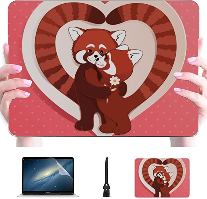 Engree Cute Sleeping Baby Panda Pattern Laptop Case for MacBook Air 13 Inch 2020//2019//2018 A2179//A1932 Retina Display Rubberized Plastic Hard Shell Cover /& Mouse Pad Touch ID