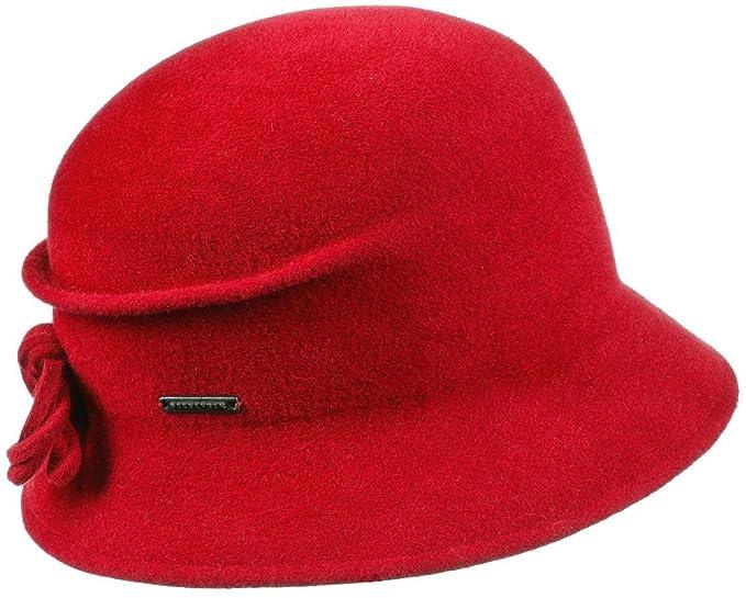 8bdafd893a6 Sabrina Velours Cloche Hat Seeberger felt hats fur felt hat (One Size - red)