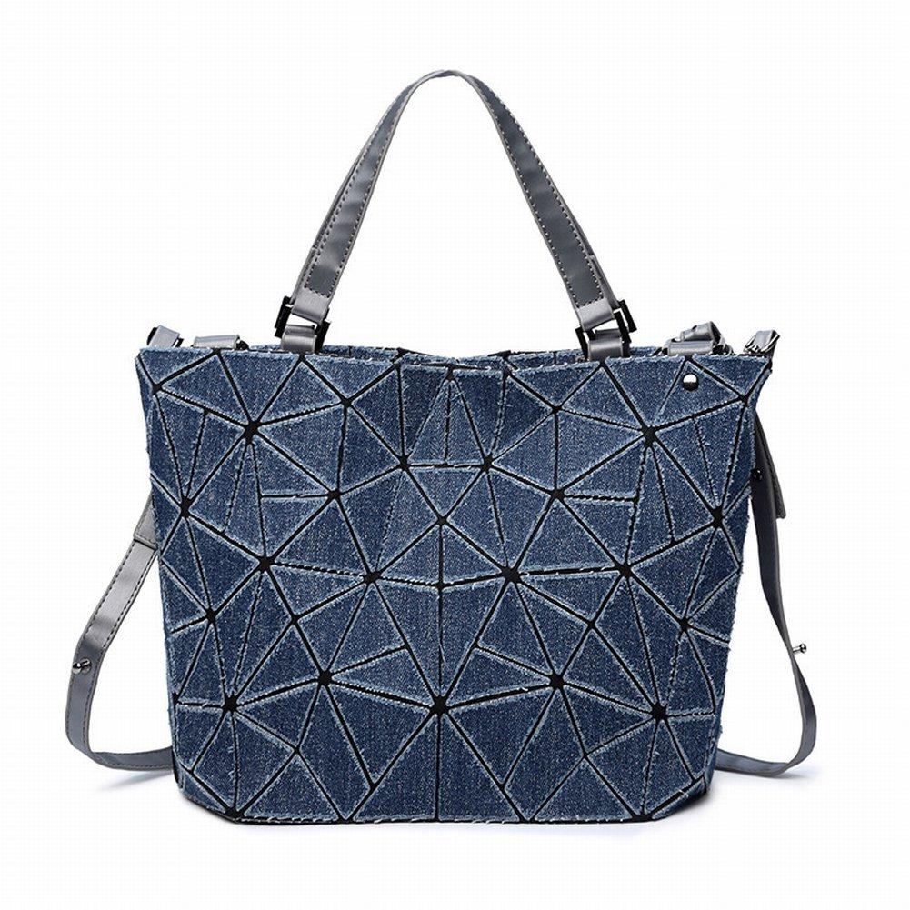 Handtasche Handtaschen Mode Geometrische Raute Denim Eimer Tasche Einfach Lässig Diagonal Paket Schulter , Preußischblau
