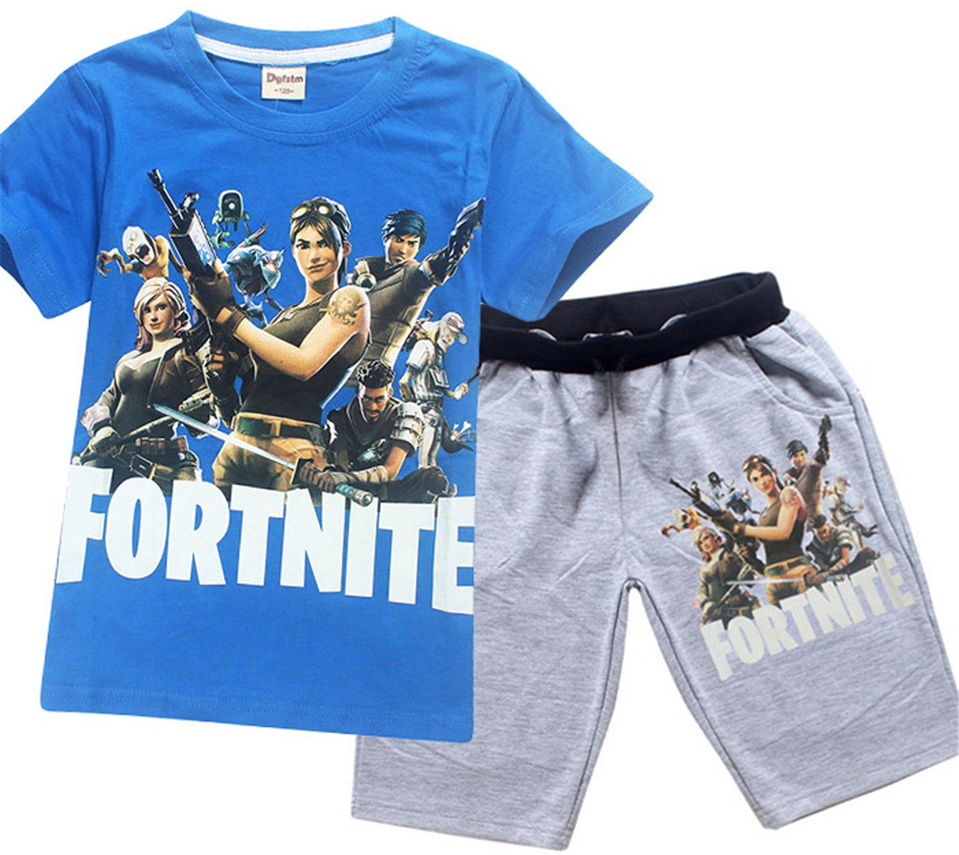 SERAPHY Boys T-Shirt and Shorts Suit Fortnite Clothing Boys Clothes 8383L-A-120