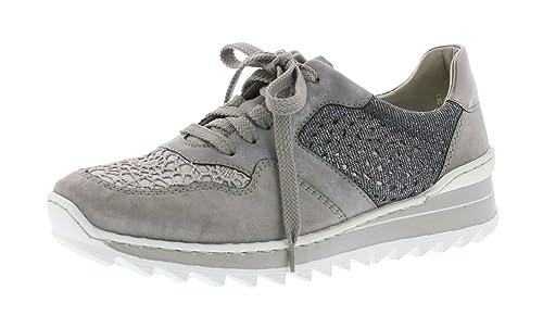 sports shoes 9aa6d a907d Rieker Damenschuhe M6915 Damen Halbschuhe, Sneaker, Schnürer, lose Einlage