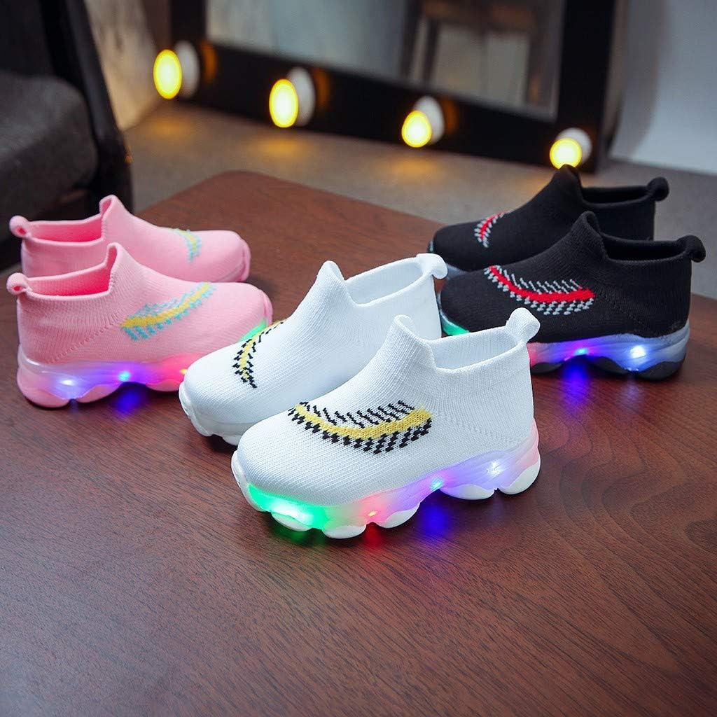 21-30EU YWLINK Zapatos Luminosos Led Ni/ñOs Y Ni/ñAs Zapatos Casuales Transpirables Antideslizantes Zapatos Ligeros Calcetines Zapatos Comodo Zapatos Planos Zapatillas Luminosas Regalo De Cumplea/ñOs