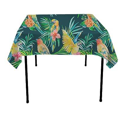 amazon com goaeach table cloths waterproof wrinkle free parrot on