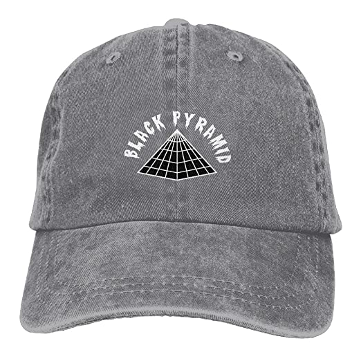 c8c68a603ae Amazon.com  Dkvmkrvla Black Pyramid Logo Adjustable Baseball Caps Denim Hats  Cowboy Sport Outdoor  Clothing