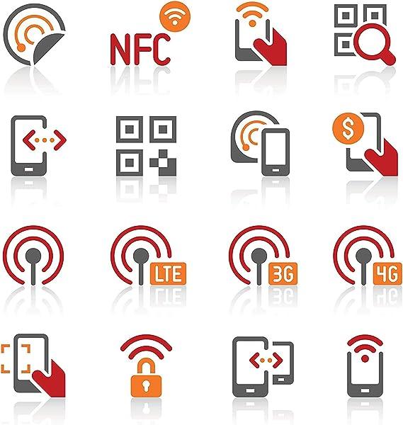 Schwarz Rund NFC Aufkleber 888Bytes NTAG216 Kompatibel mit den meisten NFC-f/ähigen Handys 1 20 St/ück NFC NTAG216 Aufkleber NFC Ger/äte Tag 25mm