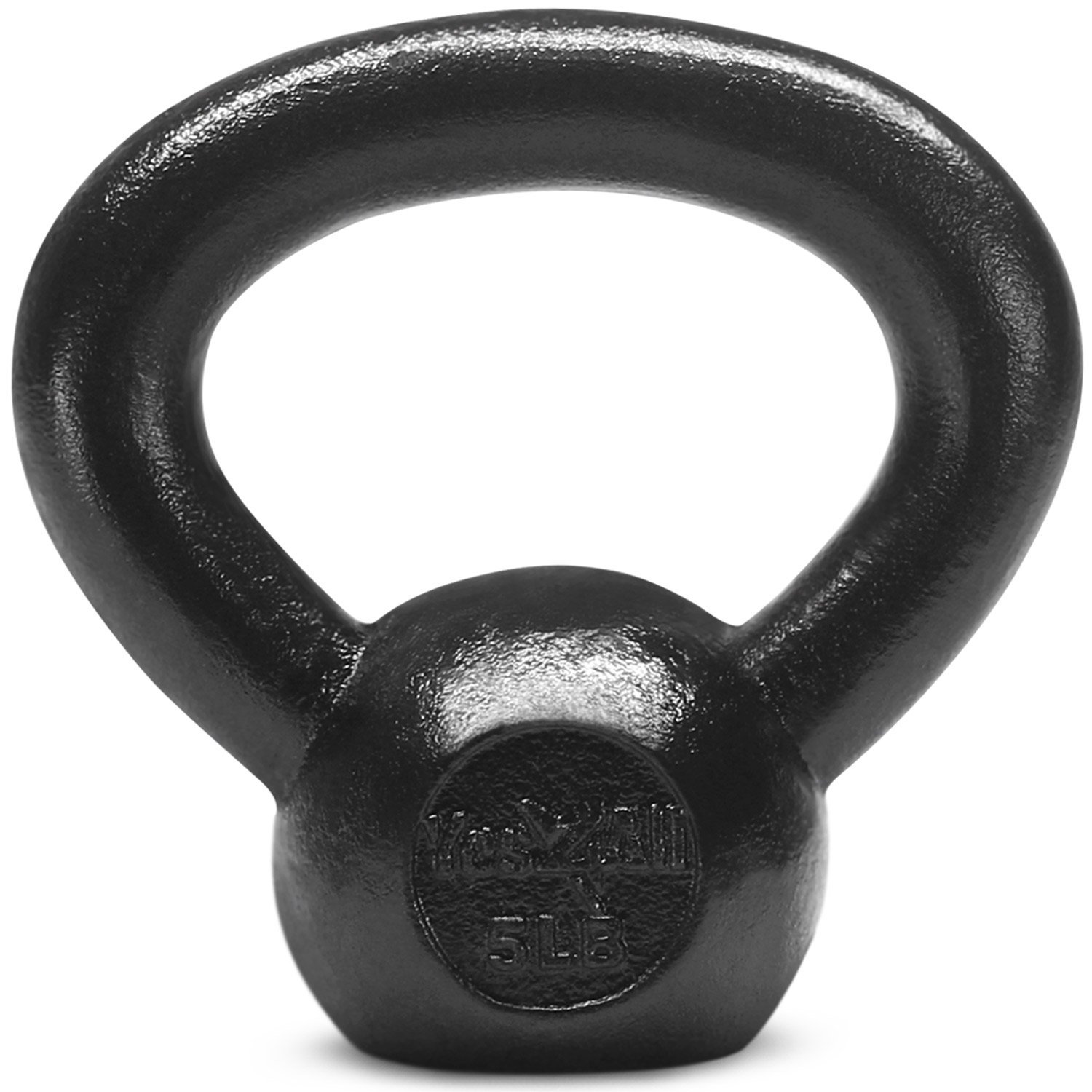 Yes4All  Combo Cast Iron Kettlebell Weight Sets – Great for Full Body Workout and Strength Training – Kettlebells 5 10 15 lbs (Black) by Yes4All (Image #2)