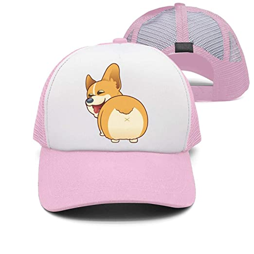 e6488f6652fd2 Image Unavailable. Image not available for. Color  Hearnsom Barred Corgi  Butt Plain Washed Unisex Adjustable Baseball Hats Trucker Cap