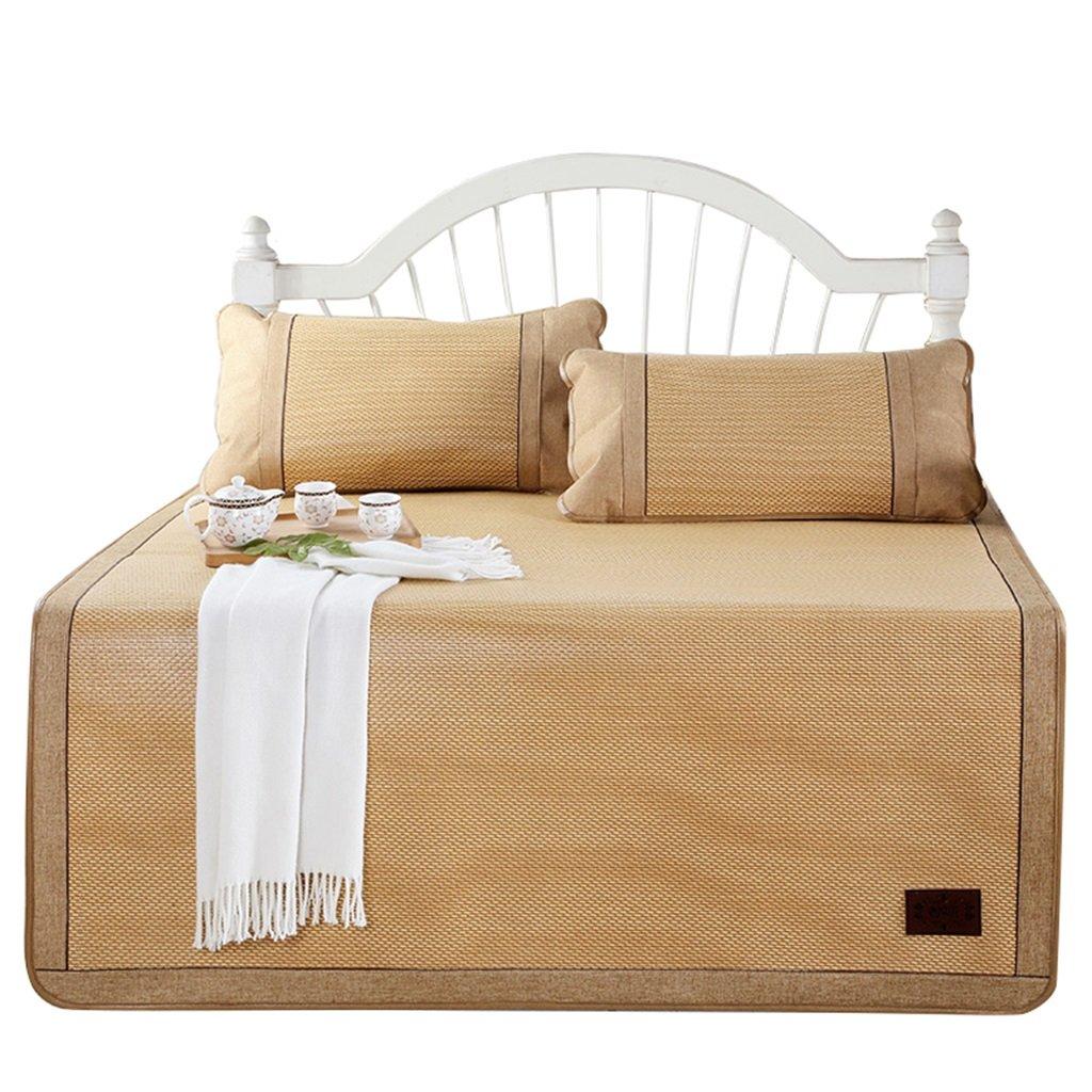 Coole Matratze Rattan Mat Sommer Schlaf Matte Faltbare Matte Duo Dreiteilig (mit Kissenbezüge) Einzelzimmer Schlafsaal (für 5ft, 6ft Bett) Coole Bambusmatte (größe : 1.5(5FT) Bed)
