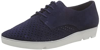 Clarks Women's Evie Bow Derby Blue Size: 6