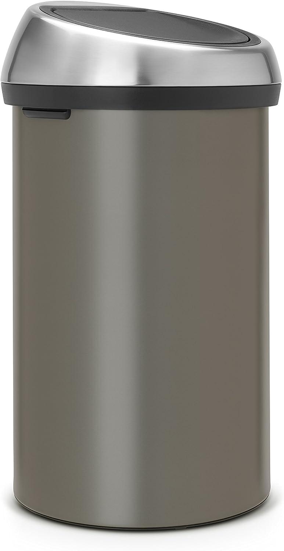 Brabantia 60 Litre Touch Bin - Platinum