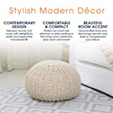 "Cheer Collection 18"" Round Pouf Ottoman 