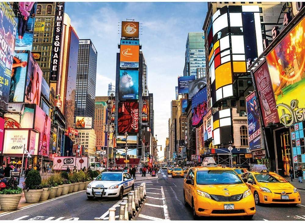 ZEZKT Puzzle Game 1000 Piezas Adolescentes Adulto Puzzles Regalo Interesante Mural De Arte Rompecabezas Times Square 16.5X11.7 Inch