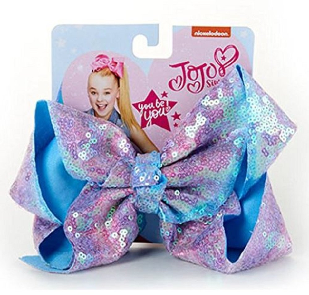 Jojo Siwa Signature Hair Bow Sparkle Pink Blue Pastel Ombre