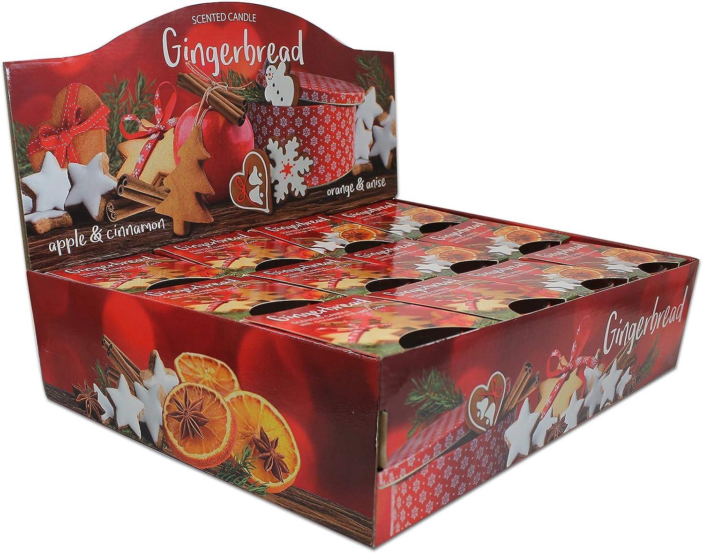 Apple-Cinnamon und Orange-Anise 12er Set Duftkerzen Gingerbread