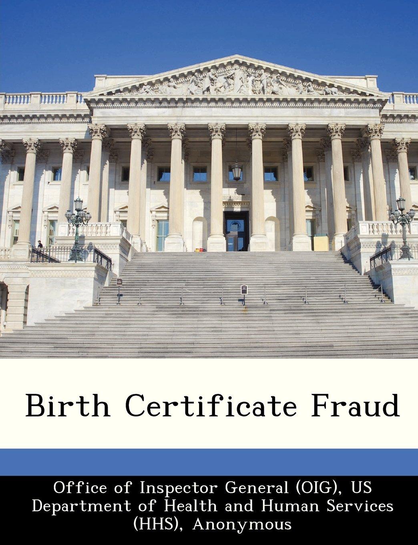 Birth Certificate Fraud June Gibbs Brown Office Of Inspector