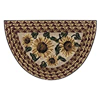 Brumlow Mills Sunflower Braid Floral Area Rug for Kitchen or Home Décor, 19