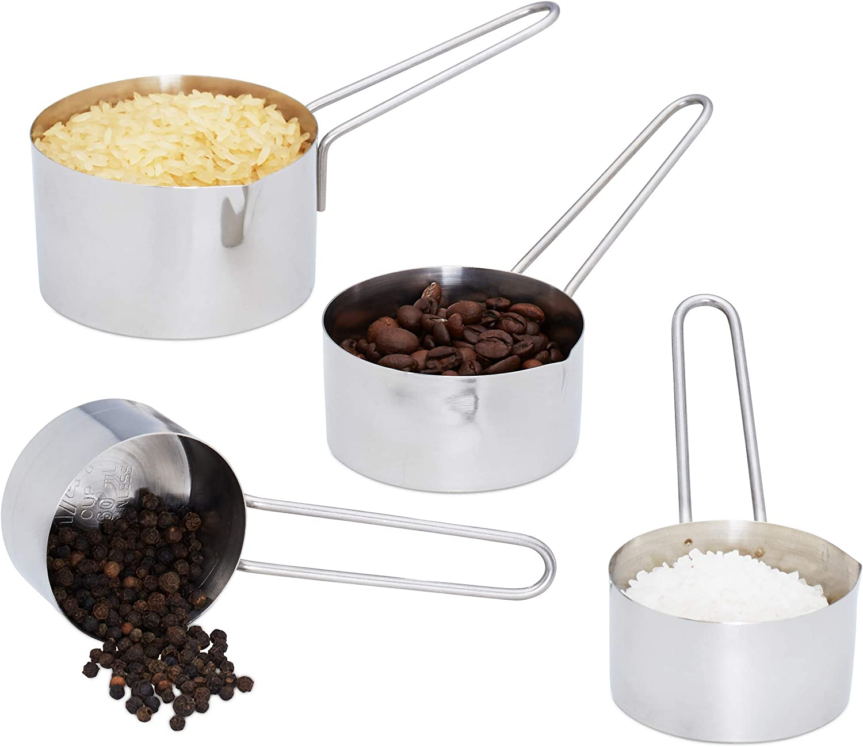 4 Metall-Messbecher für Cup-Einheiten KitchenCraft