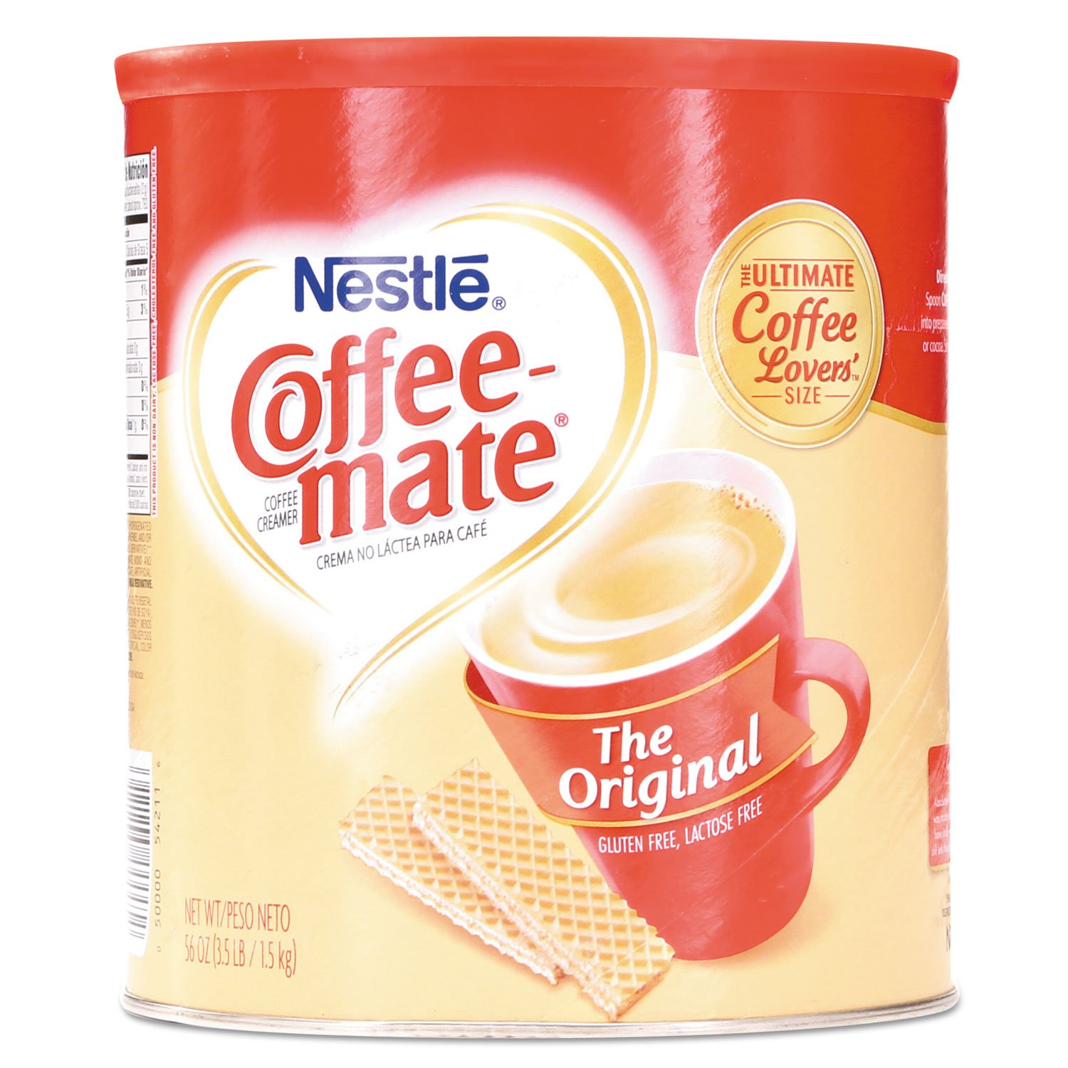Coffee-mate 824802 Non-Dairy Powdered Creamer, Original, 56 oz Canister