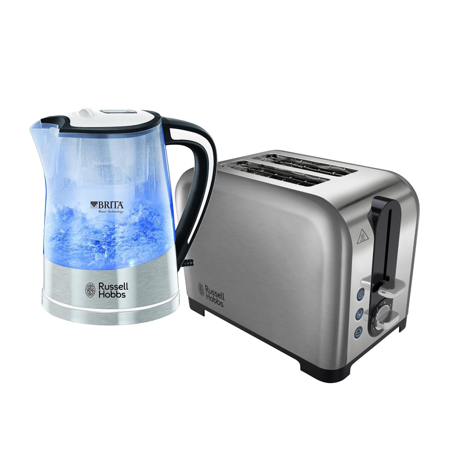 Russell Hobbs 3000W Cordless 1 Litre Electric Purity Kettle and 2 Slice Wide Slot Toaster Set - Includes Free Brita Maxtra Filter Russell Hobbs - Tooltime®