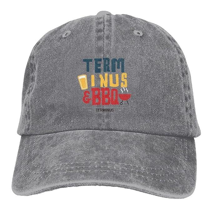 1d3ca00e010 Terminus BBQ Vintage Style Zombie Apocalypse Cap Flat-Along r n Snapback  Hats