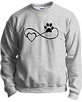 Dog Cat Lover Gift Infinite Love Infinity Symbol Crewneck Sweatshirt
