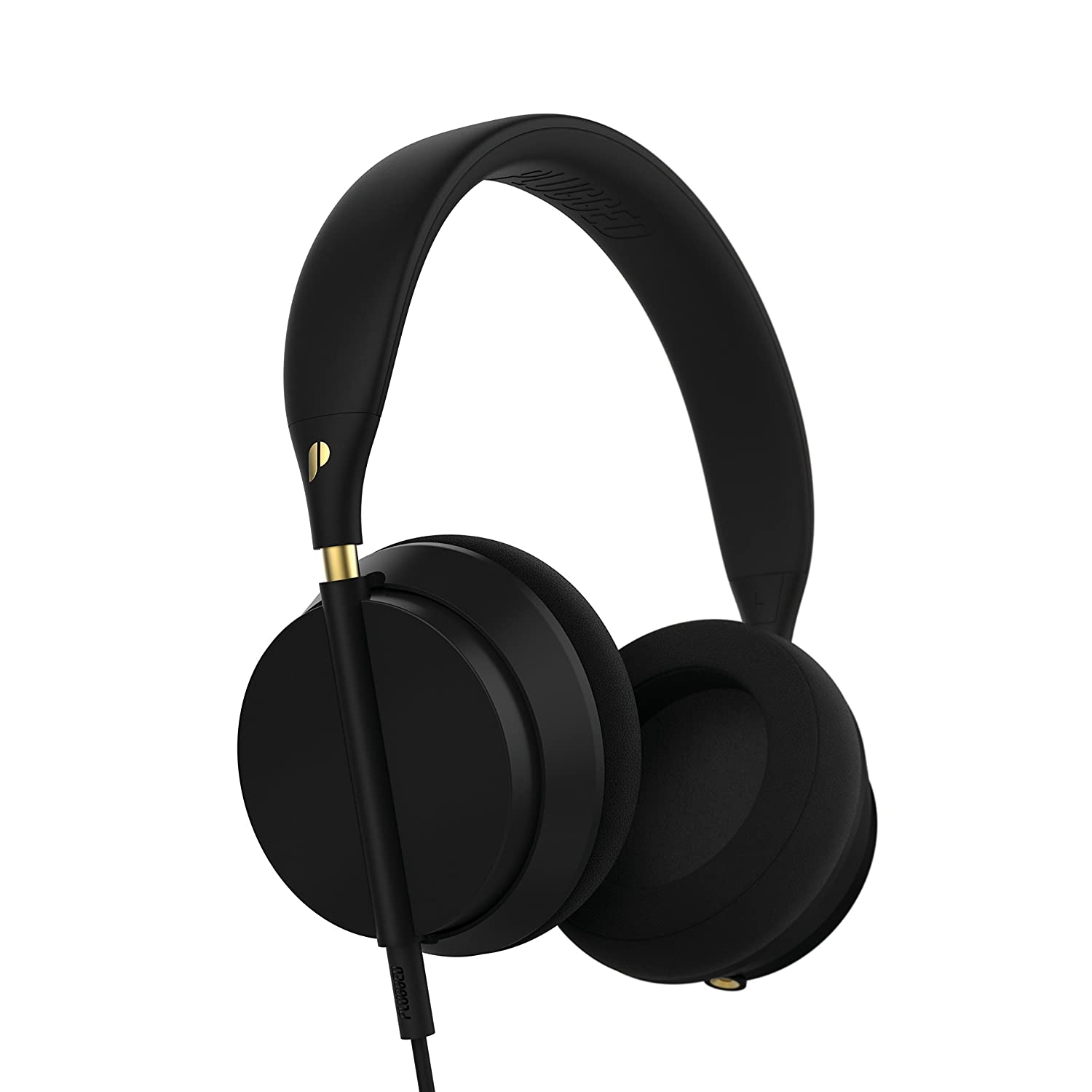 Plugged Crown Series Headphones, Black/Gold