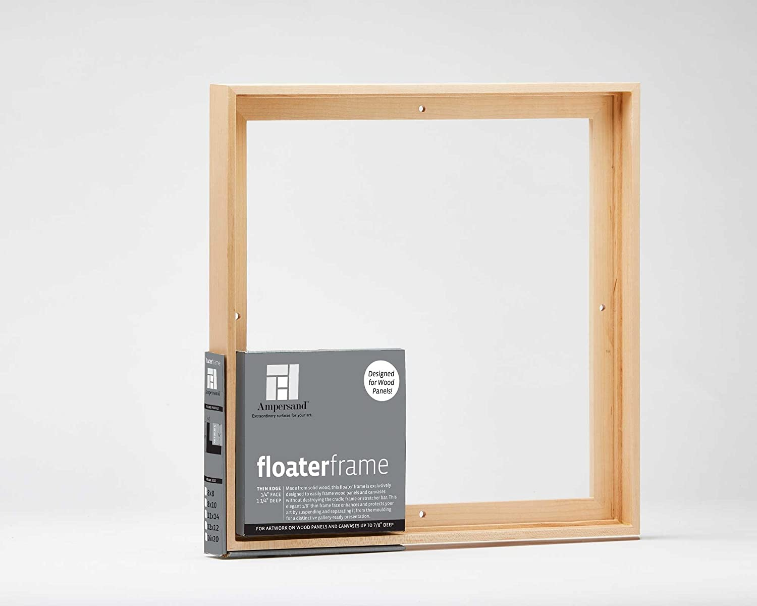 Amazon.com: Ampersand Floaterframe for Wood Panels, 7/8 Inch Depth ...