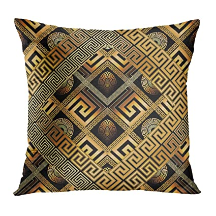 Amazoncom Tomkeys Throw Pillow Cover Modern Meander Abstract Black
