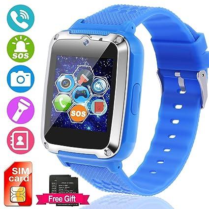 Amazon.com: Reloj inteligente para niños [tarjeta SIM y ...