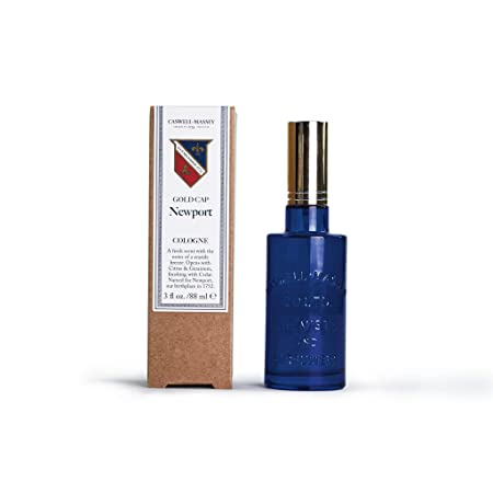 Caswell-Massey Newport Cologne Spray A Fresh Seaside Fragrance Infused with Sandalwood, Cedar, and Citrus 3 Ounces